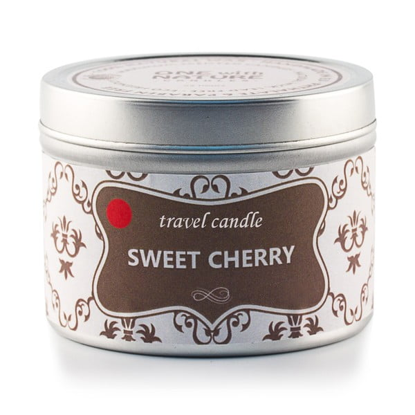 Vonná svíčka v plechovce Sweet Cherry, 25 hodin hoření