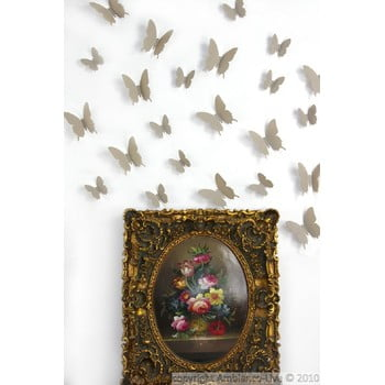 Set 12 autocolante 3D Ambiance Butterflies, maro deschis de la Ambiance