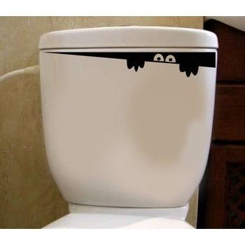 Autocolant din vinil pentru capacul de WC Hiding, 30 x 8 cm de la Pushy