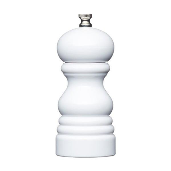 Mlynček na korenie Kitchen Craft Master Glass White, výška 12 cm
