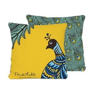 Oboustranný polštář Madre Selva Draw Peacock, 45 x 45 cm
