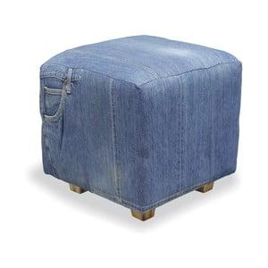 Podnožka z teakového dřeva Bluebone Denim,35x40cm