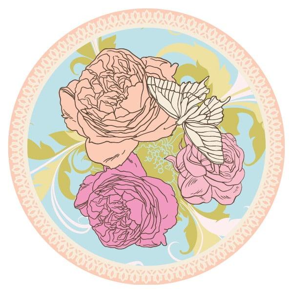 Sada 2 prostírání Nisha Flower Illustration