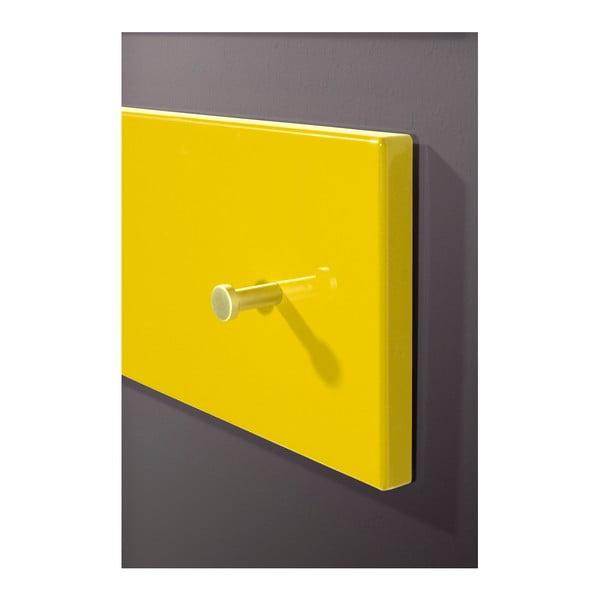 Žlutý nástěnný věšák Germania Colorado Perso, 15 x 106 cm