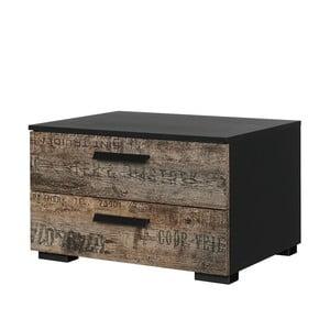 Noční stolek se 2 zásuvkami Rauch Sumatra