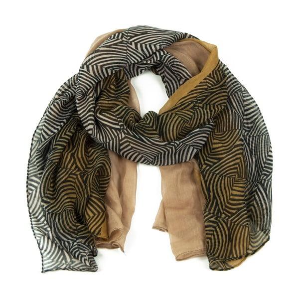 Hnědý šátek Art of Polo Irene