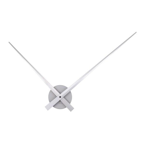 Stříbrné nástěnné hodiny Present Time Little Big Time