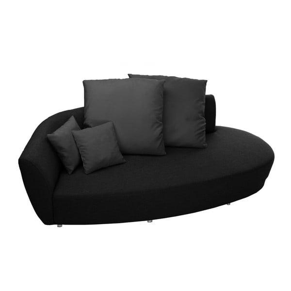 Canapea cu trei locuri Florenzzi Viotti, spătar pe partea stângă, gri închis