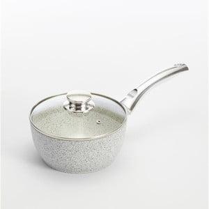 Ibric cu mâner argintiu și capac Bisetti Stonewhite, Ø 18 cm