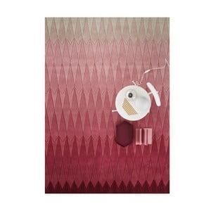 Vlněný koberec Acacia Pink, 140x200 cm