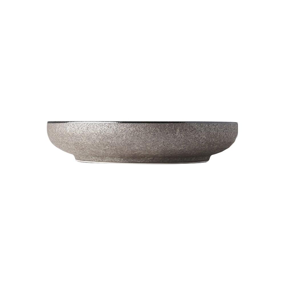 Béžový keramický talíř se zvednutým okrajem MIJ Earth,ø22cm