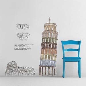 Samolepka na stěnu Pisa Italia, 60x90 cm