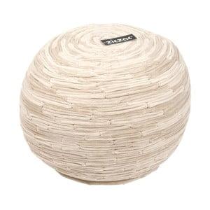 Pískově hnědý puf ZicZac Bamboo