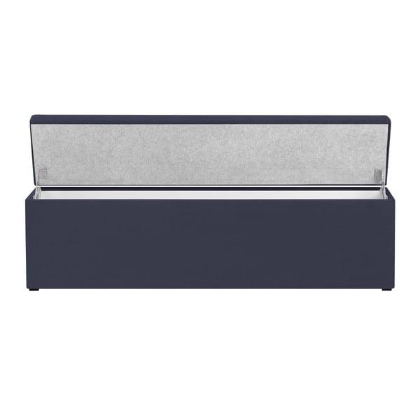 Tmavě modrý otoman s úložným prostorem Windsor & Co Sofas Astro, 160 x 47 cm