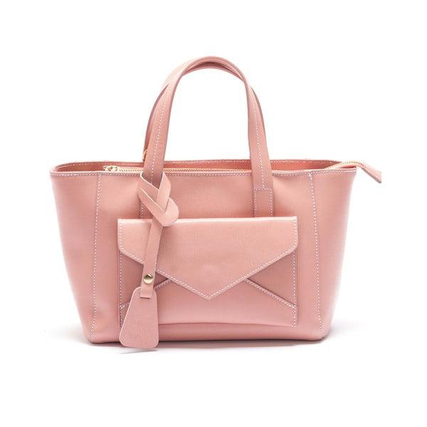 Kožená kabelka Mangotti 447, růžová