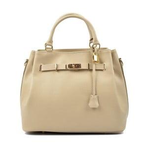 Béžová kožená kabelka Isabella Rhea Mahno