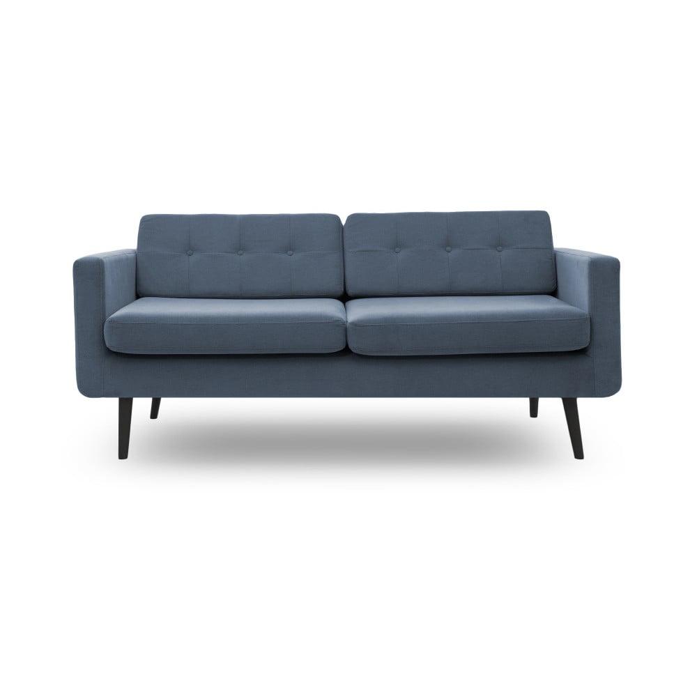canapea cu 3 locuri i picioare negre vivonita sondero albastru deschis bonami. Black Bedroom Furniture Sets. Home Design Ideas