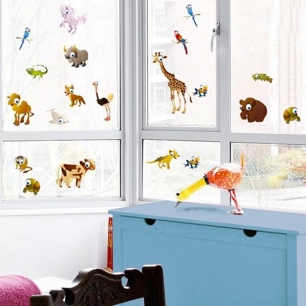 Samolepka na okno Zvířátka