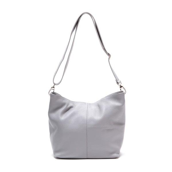 Sivá kožená kabelka Luisa Vannini 1029