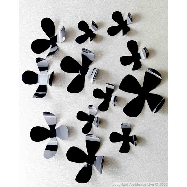 Samolepka Black Flowers