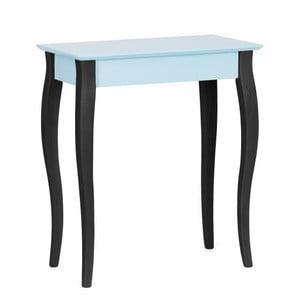 Světle tyrkysový konzolový stolek s černými nohami Ragaba Lilo, šířka 65cm