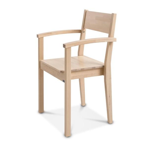 Ručně vyráběná židle z masivního březového dřeva s područkami Kiteen Joki