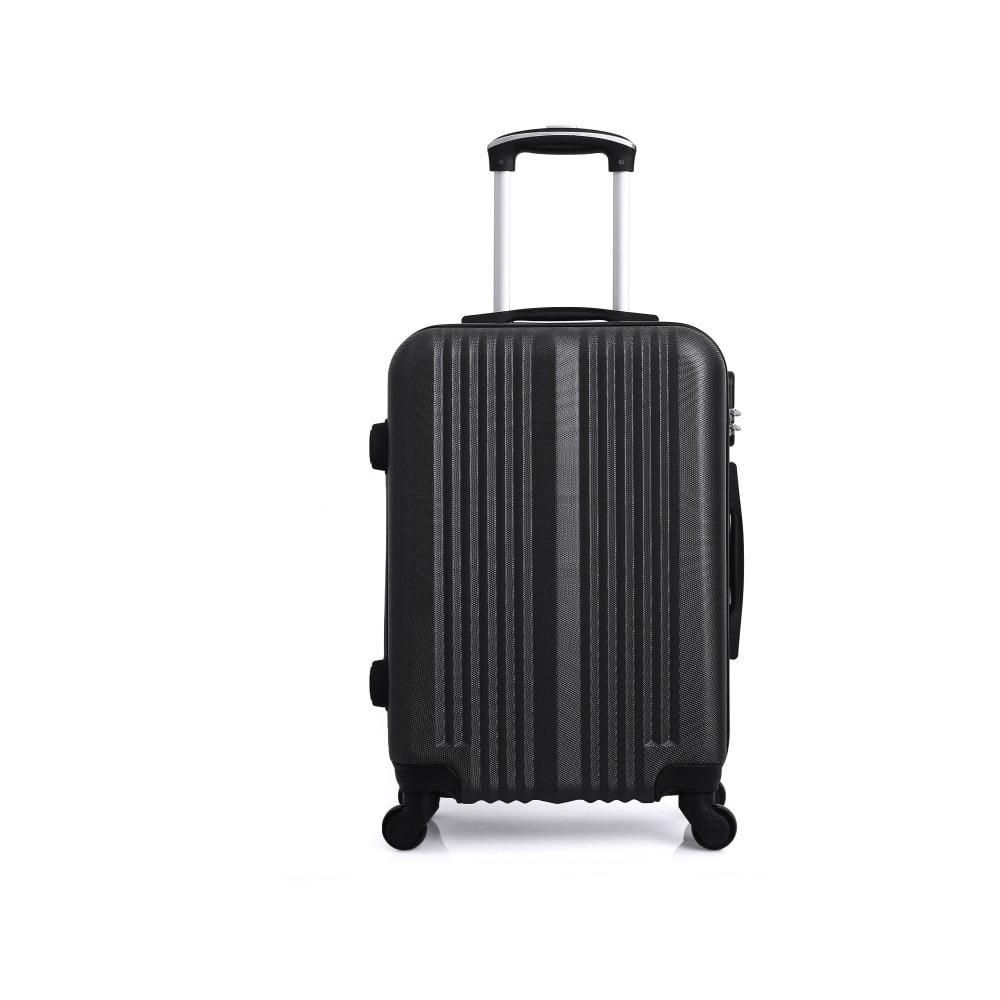 Černý cestovní kufr na kolečkách Hero Maroko, 97 l