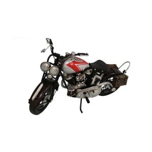 Dekorativní objekt Antic Line Silver Motocycle