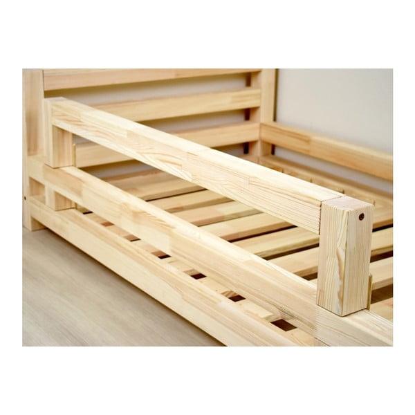 Bílá bočnice z borovicového dřeva k posteli Benlemi Safety,délka90cm