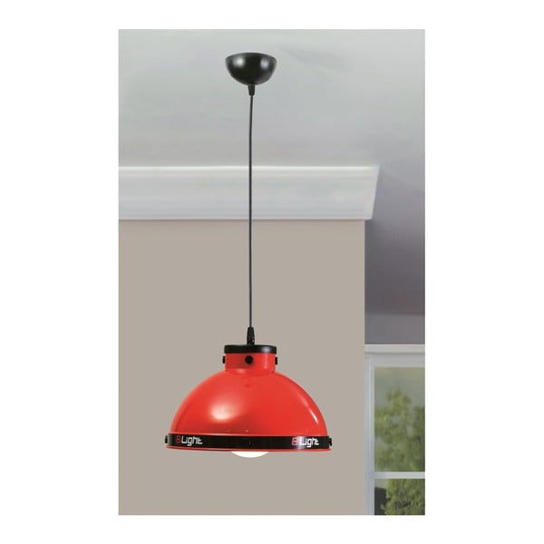 Červené závěsné svítidlo Biconcept