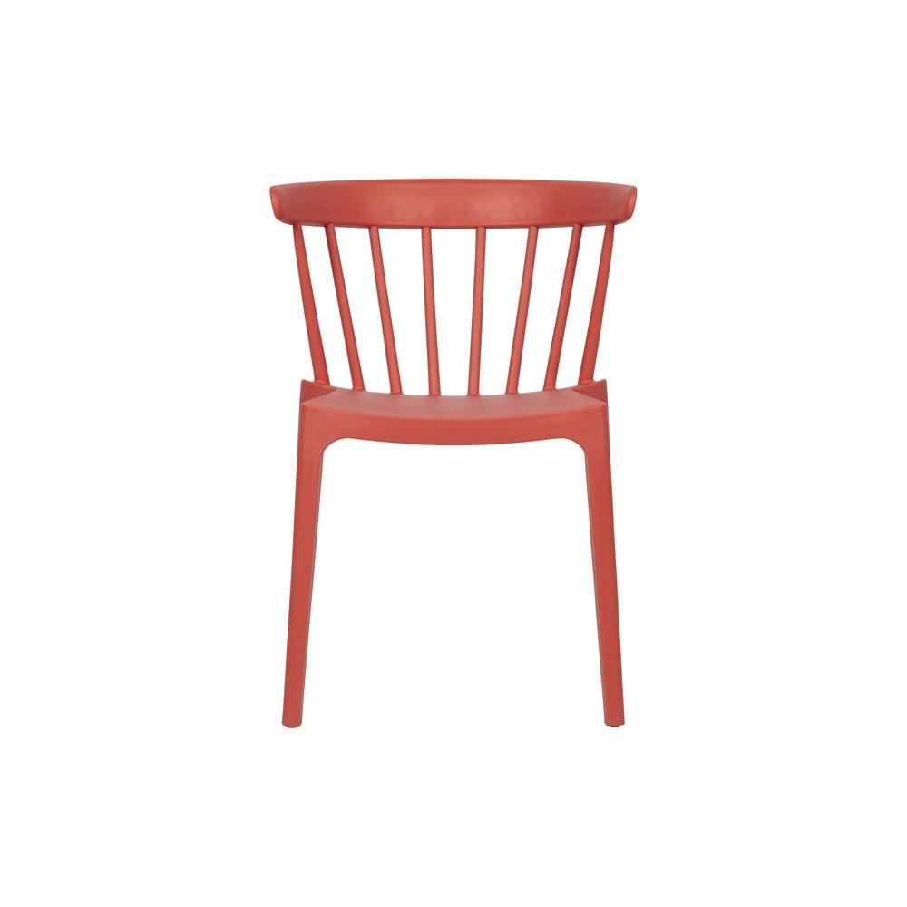 Tmavě růžová plastová jídelní židle vhodná idoexteriéru WOOOD Bliss
