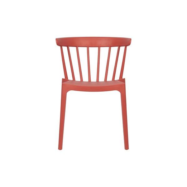 Tmavě růžová jídelní židle vhodná do interiéru i exteriéru WOOOD Bliss