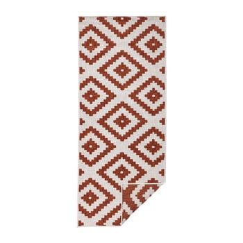 Covor adecvat pentru exterior Bougari Malta, 80 x 250 cm, roșu - crem poza