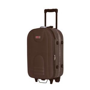 Hnědý kufr na kolečkách Hero Airplane, 26 l