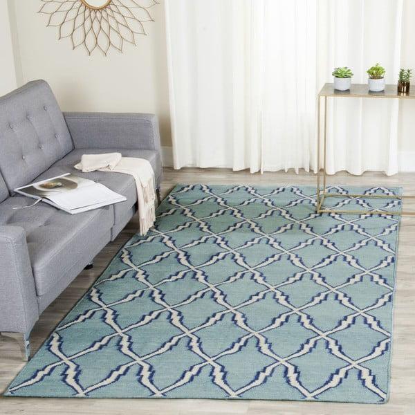 Vlněný koberec Safavieh Nico, 121x182 cm, modrý