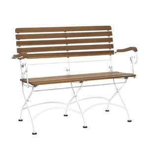 Hnědobílá lavice Butlers Parklife