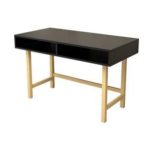Černý pracovní stůl Magenta Home Rachel