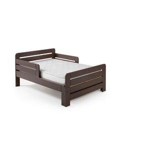 Hnědá nastavitelná postel Vipack Jumper