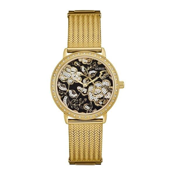 Zegarek damski w kolorze złota z paskiem ze stali nierdzewnej Guess W0822L2