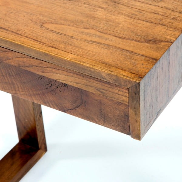 Hnědý dřevěný noční stolek Thai Natura Pulse