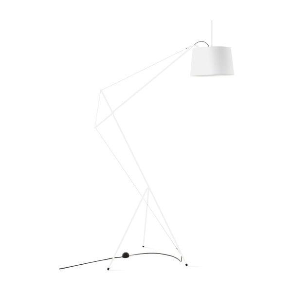 Bílá stojící lampa z kovu HARTÔ Elisabeth