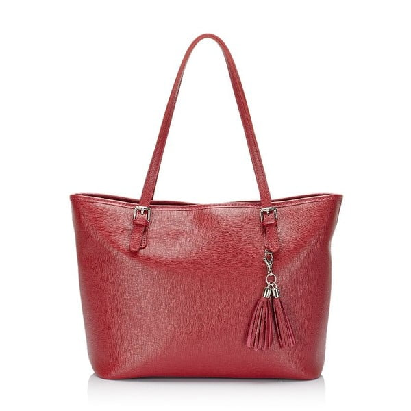 Bordowa torebka skórzana Lisa Minardi Arianna