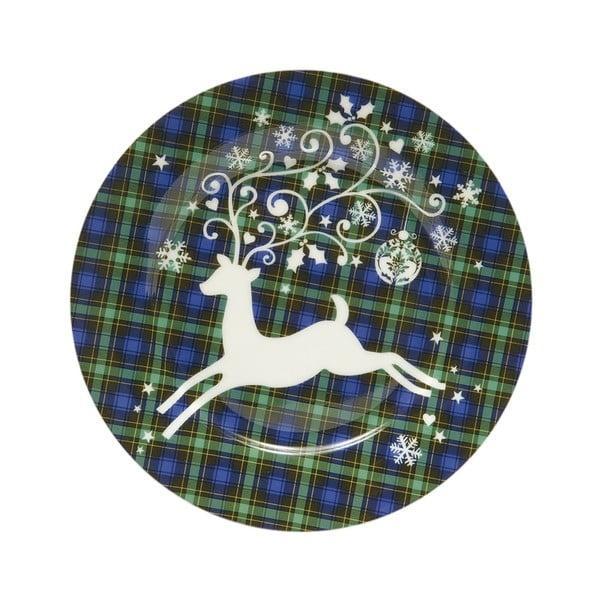Vánoční talíř se sobem, zelený