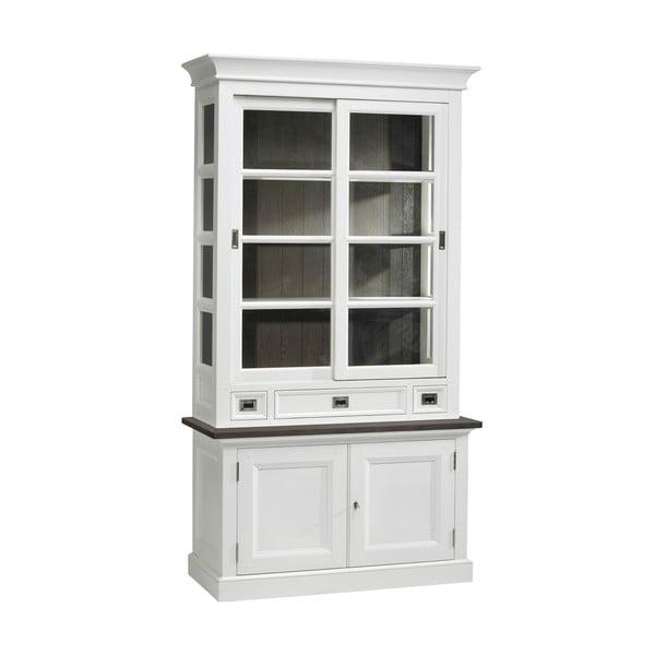 Bílá prosklená stěna Canett Skagen Cabinet, 3 zásuvky