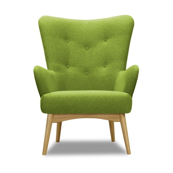 Zielony fotel Vivonita Uma