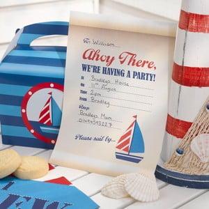 Sada 10 papírových pozvánek Neviti Ahoy There