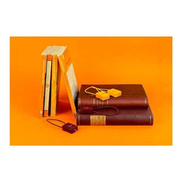 Oranžová blikačka Bookman