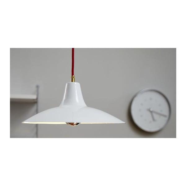 Stropní svítidlo Emailleleuchte 08 White/Red