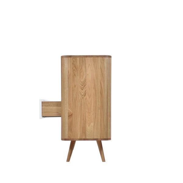 Komoda se zásuvkami z dubového dřeva Gazzda Ena Two, 120x42x90cm