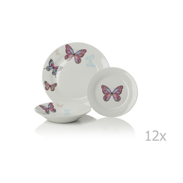 12-dielny porcelánový set riadu Sabichi Mariposa